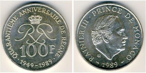 100 Franc Monaco Silver