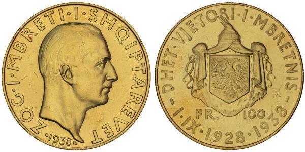 100 Franga Ari Albania Gold