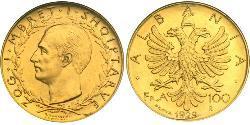 100 Franga Ari Albanien Gold