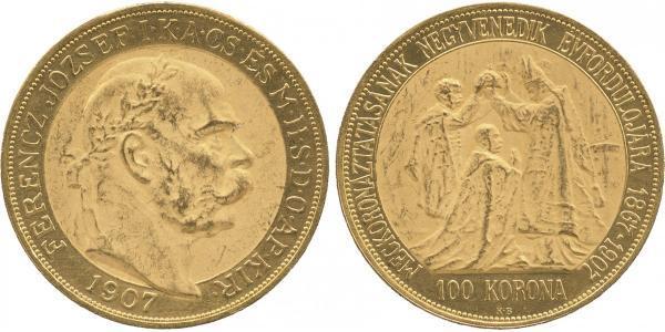 100 Korona Австро-Венгрия (1867-1918) Золото Франц Иосиф I (1830 - 1916)
