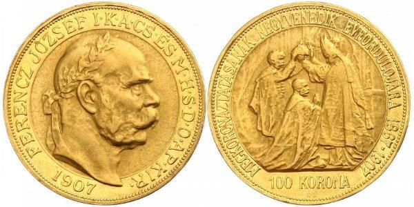 100 Korona Österreich-Ungarn (1867-1918) Gold Franz Joseph I (1830 - 1916)