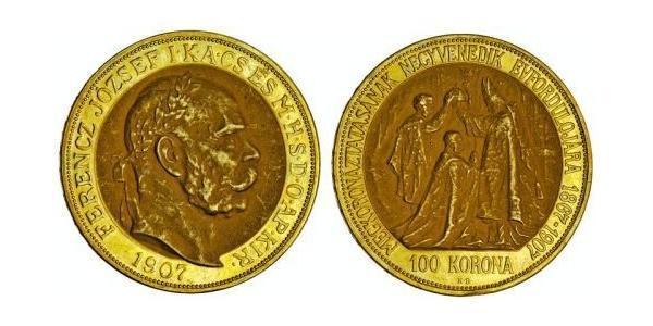 100 Korona Impero austro-ungarico (1867-1918) Oro Franz Joseph I (1830 - 1916)