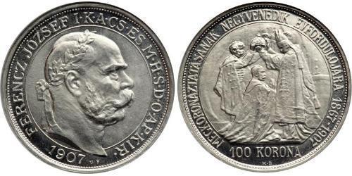 100 Korona Österreich-Ungarn (1867-1918) Platin Franz Joseph I (1830 - 1916)