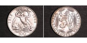 100 Krone Czechoslovakia (1918-1992) 銀
