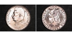 100 Krone Cecoslovacchia  (1918-1992) Argento Joseph Stalin