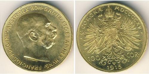 100 Krone Austria  Gold