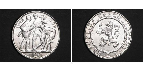 100 Krone Tschechoslowakei  (1918-1992) Silber
