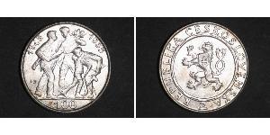 100 Krone Czechoslovakia (1918-1992) Silver