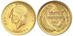 100 Kurush Turkey (1923 - ) Gold Kemal Ataturk