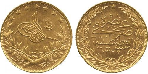 100 Kurush Imperio otomano (1299-1923) Oro