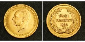 100 Kurush Turchia (1923 - ) Oro Kemal Ataturk