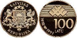 100 Lats Latvia Gold