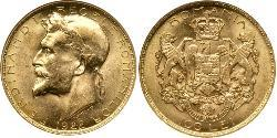 100 Leu Kingdom of Romania (1881-1947) Gold Ferdinand I of Romania(1865-1927)