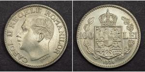 100 Lev Kingdom of Romania (1881-1947) Nickel Carol II of Romania (1893 - 1953)