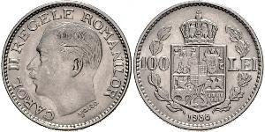 100 Lev Royaume de Roumanie (1881-1947) Nickel Carol II of Romania (1893 - 1953)