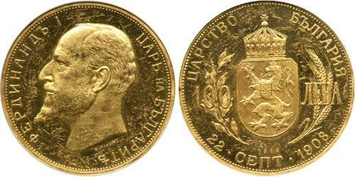 100 Lev Bulgaria Oro Ferdinando I di Bulgaria (1861 -1948)