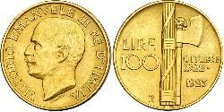 100 Lira 意大利王國 (1861-1946) 金