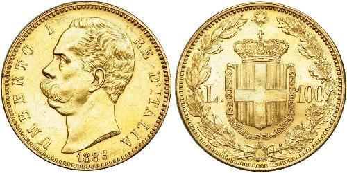100 Lira 意大利王國 (1861-1946) 金 Umberto I (1844-1900)