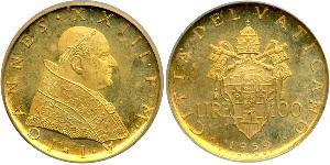 100 Lira 梵蒂冈 金 若望二十三世