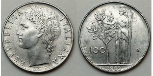 100 Lira Italie Acier