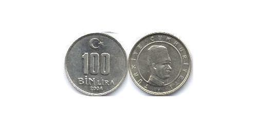 100 Lira Turkey (1923 - ) Copper/Nickel