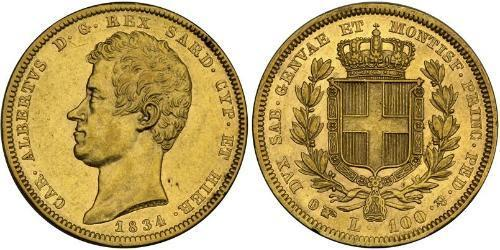 100 Lira Italian city-states Gold