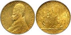 100 Lira Kirchenstaat (752-1870) Gold