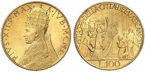 100 Lira Papal States (752-1870) Gold
