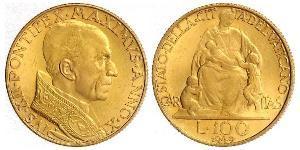 100 Lira Vatikan (1926-) Gold Pius XII  (1876 - 1958)