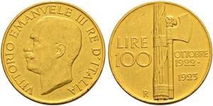 100 Lira Kingdom of Italy (1861-1946) Or