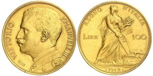 100 Lira Kingdom of Italy (1861-1946) Or Vittorio Emanuele III (1869 - 1947)