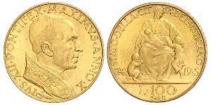 100 Lira Vatican (1926-) Or Pie XII (1876 - 1958)
