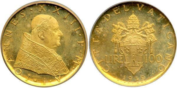 100 Lira Vatican (1926-) Or Jean XXIII