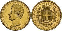 100 Lira Italian city-states Oro