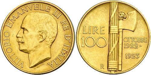 100 Lira Kingdom of Italy (1861-1946) Oro