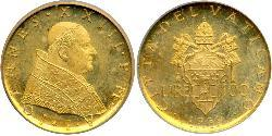 100 Lira Vatican (1926-) Oro Juan XXIII