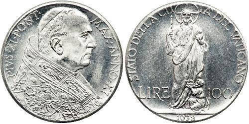 100 Lira Estados Pontificios (752-1870) Plata