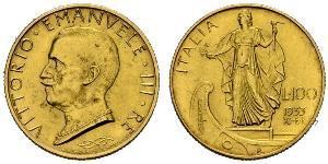 100 Lira Italie Platine/Or Vittorio Emanuele III (1869 - 1947)