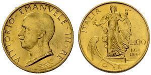 100 Lira Italia Platino/Oro Vittorio Emanuele III (1869 - 1947)