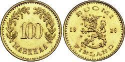 100 Mark Finnland (1917 - ) Gold