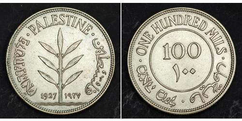 100 Mill Palästina Silber