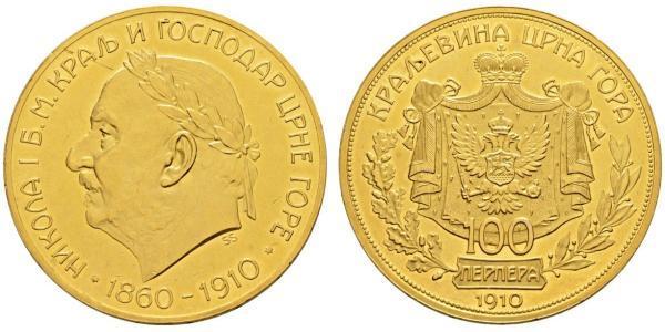 100 Perper  Montenegro Gold