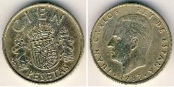 100 Peseta Kingdom of Spain (1976 - ) Bronze/Aluminium Juan Carlos I of Spain (1938 - )