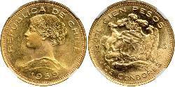 100 Peso 智利 金