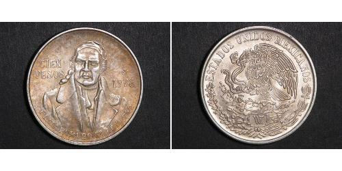 100 Peso Second Federal Republic of Mexico (1846 - 1863) Argento