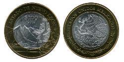100 Peso United Mexican States (1867 - ) Bimetal