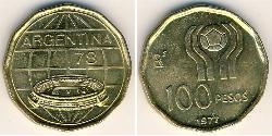 100 Peso Argentine Republic (1861 - ) Bronze/Aluminium