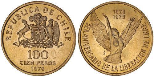 100 Peso Chile Gold