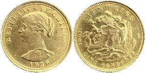 100 Peso Chili Or