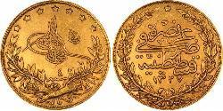 100 Piastre Osmanisches Reich (1299-1923) Gold